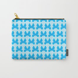 Blue Butterfly Aunty - Origami Blue Butterfly Carry-All Pouch