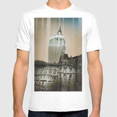 bending time SMALL White Mens Fitted Tee