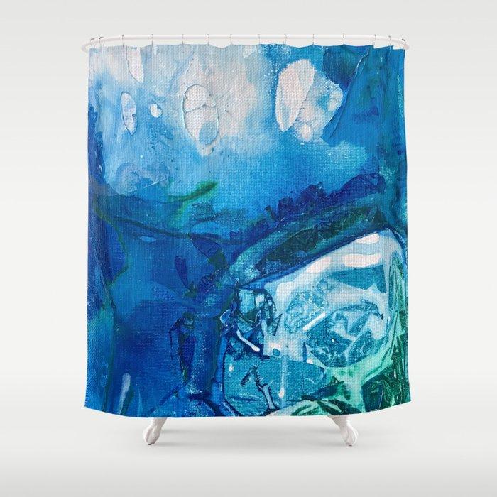 Deep Blue Ocean Life Shower Curtain