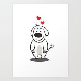 MY FUNNY DOG Art Print