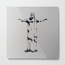 Splaaash Series - Jesus Cristo Ink Metal Print