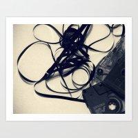 cassette Art Prints featuring Cassette by Ashli Amabile Designs