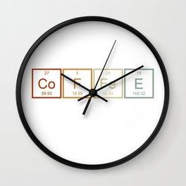 Coffee Chemistry Wall Clock