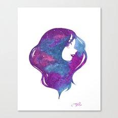galactic hair Canvas Print