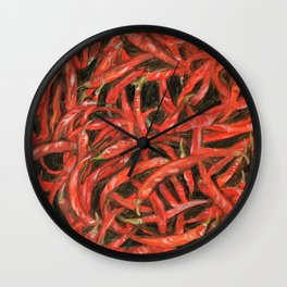 RED HOT CHILLIES Wall Clock