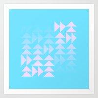 Rose Snowflake Art Print