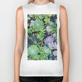 Succulents, plants Biker Tank