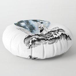 Night above the moon. Floor Pillow