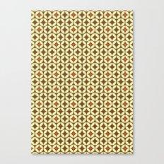 Repeated Retro - brown Canvas Print