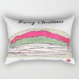 Festive Sandwich Leftovers Rectangular Pillow