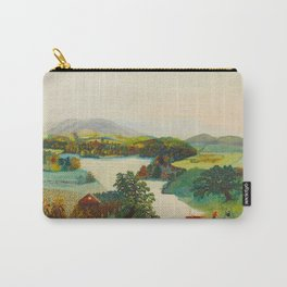 Anna Mary Robertson 'Grandma' Moses Upper Cambridge Valley American Folk Art Carry-All Pouch