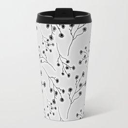 Baby's Breath Flower Pattern - Snow Travel Mug
