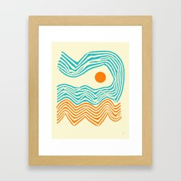 WIND AND WAVES Framed Art Print