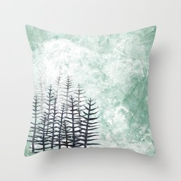 January Abstract Throw Pillow