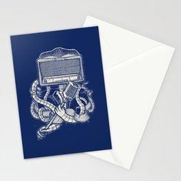 Rocker robot Navy Stationery Cards