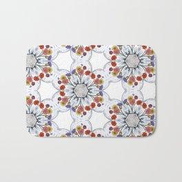 Blossom Pattern Flower Bath Mat