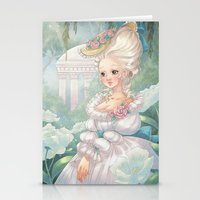 marie antoinette Stationery Cards featuring Marie-Antoinette by Pich illustration