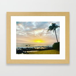 Kauai Sunset Framed Art Print
