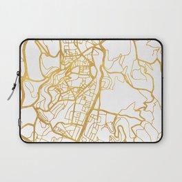 JERUSALEM ISRAEL PALESTINE CITY STREET MAP ART Laptop Sleeve