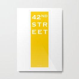 42nd Street - NYC - Yellow Metal Print