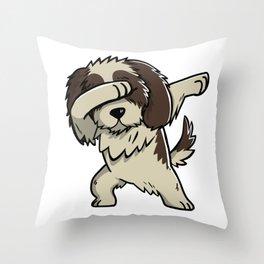 Dabbing Shih Tzu Dog Dab Dance Throw Pillow