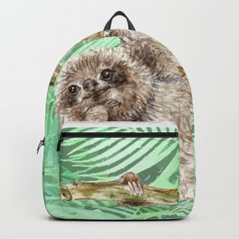 Let's hang out -- watercolor sloth Backpack