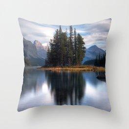 Spirit Island - Rocky Mountains Throw Pillow