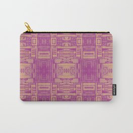 Mirror Pattern Tribal Style 2.0 -  Pink & Brown Carry-All Pouch
