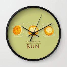 Porcupineapple Bun Wall Clock