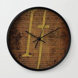 Vintage Poem 3 Wall Clock