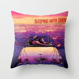 sleeping with sirens a movie Throw Pillow