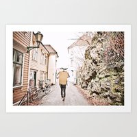 Alleyways Art Print