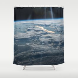 ISS-47 Lake Balkhash, eastern Kazakhstan Shower Curtain