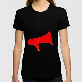 Red Isolated Megaphone T-shirt