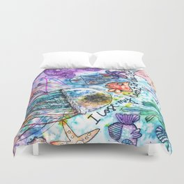 I Lost my Heart to the Ocean Duvet Cover