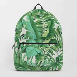 Green tropical leaves III Backpack