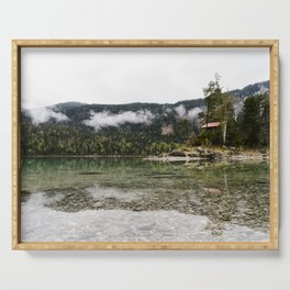 Lake Eibsee reflection Serving Tray