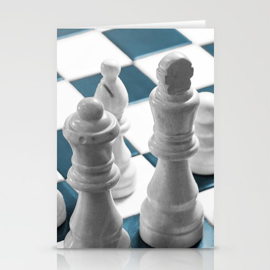 Chess - Teal Stationery Cards