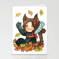 bucky Stationery Cards featuring fall - bucky by cynamon