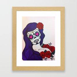 day of the dead skull 1 Framed Art Print