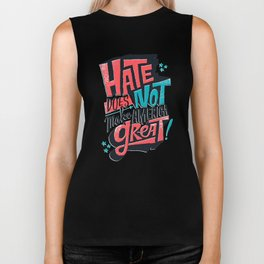 Hate Does Not Make America Great Biker Tank