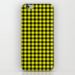 Classic Yellow Country Cottage Summer Buffalo Plaid iPhone Skin