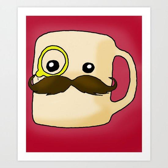 Mustache Mug Art Print