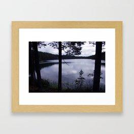Blue Moment Lake View Framed Art Print