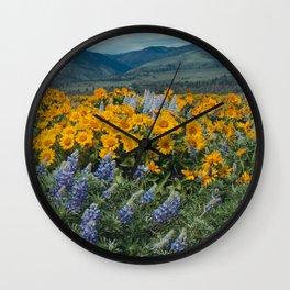 Oregon Spring Wildflower Hillside Wall Clock
