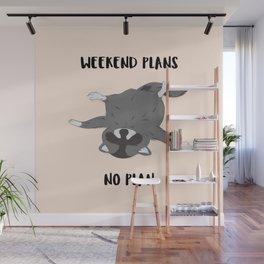 No plan Raccoon #illlustration #cartoon #animal Wall Mural