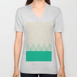 Mint Triangles Unisex V-Neck