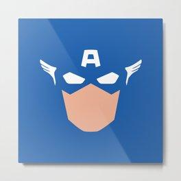 Superhero America Captain Metal Print