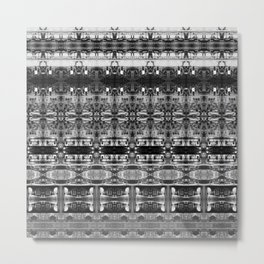 Cafe Stripe Photographic Pattern Art Print #1 Metal Print