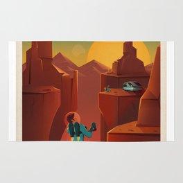 Camping On Mars Rug
